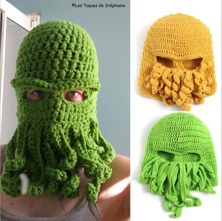 >> Click to Buy << Handmade Funny Animal Cthulu Beards Hats Octopus Hats caps Crocheted Tentacle Beanies for Men and Women Halloween Birthday Gifts #Affiliate