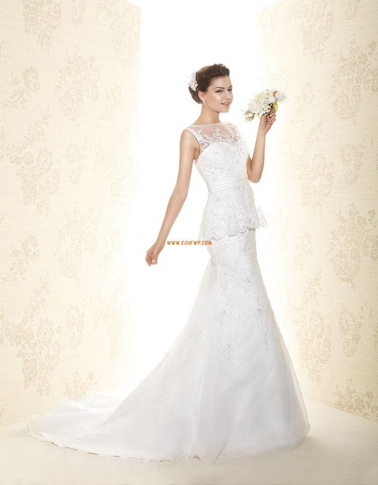 Kyrka Scoop Ärmlös Bröllopsklänningar 2015