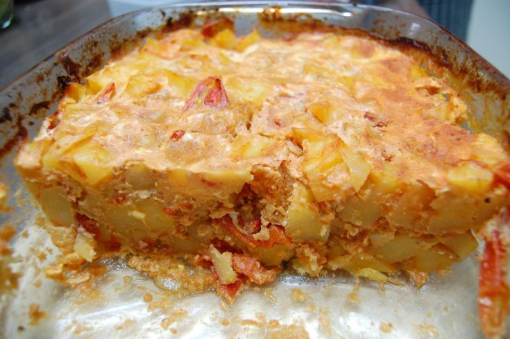 Fotorecept: Diabolské zapekané zemiaky s rajčinami