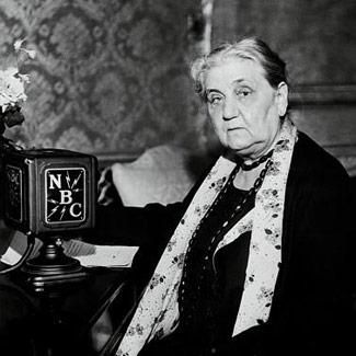 Jane Addams, first American woman awarded the Nobel Peace Prize, leading woman of the Progressive Era, advocate for mama-concerns such as children, public health, and world peace.