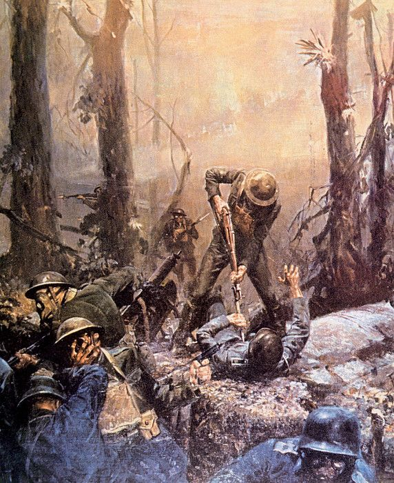 World War I, American marines in The Battle of Belleau Wood, Frances, 1918