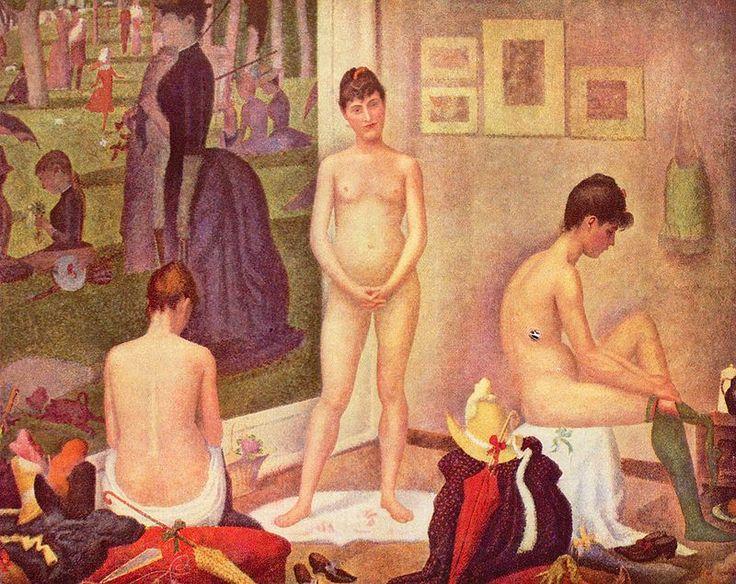 Georges Seurat, Le modelle, 1888, olio su tela,  Barnes Foundation, Merion.