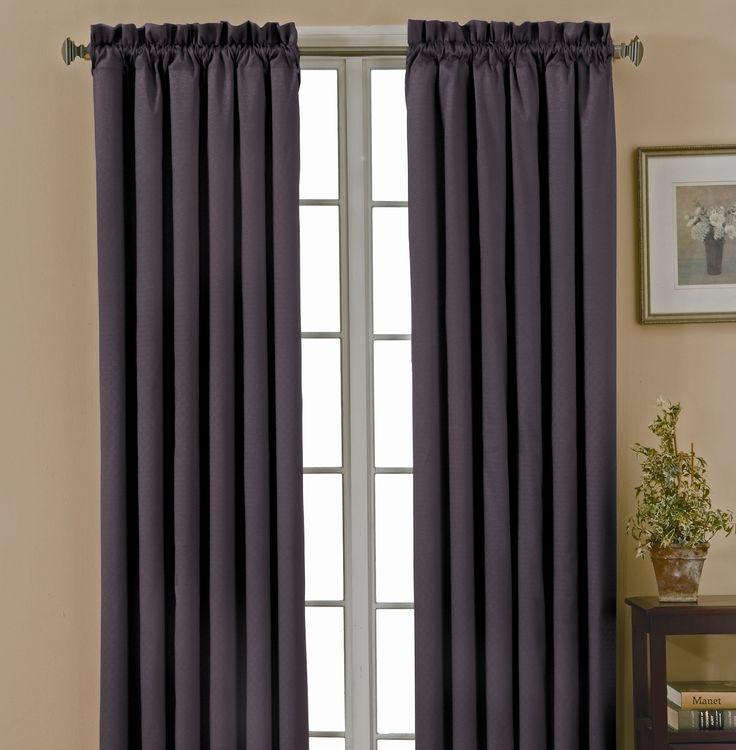dark grey blackout curtains