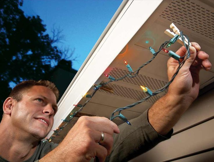 12 Handy Tips for Holiday Lights and Trees: Holiday Light Hangers - Get the list: http://www.familyhandyman.com/smart-homeowner/ways-to-save-money/handy-tips-for-holiday-lights-and-trees?pmcode=pin110114i