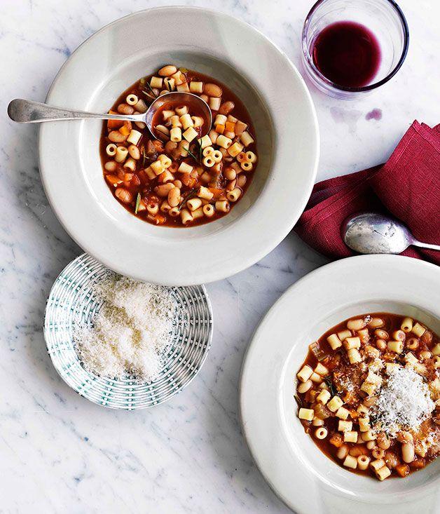 Australian Gourmet Traveller recipe for pasta e fagioli (pasta and beans).