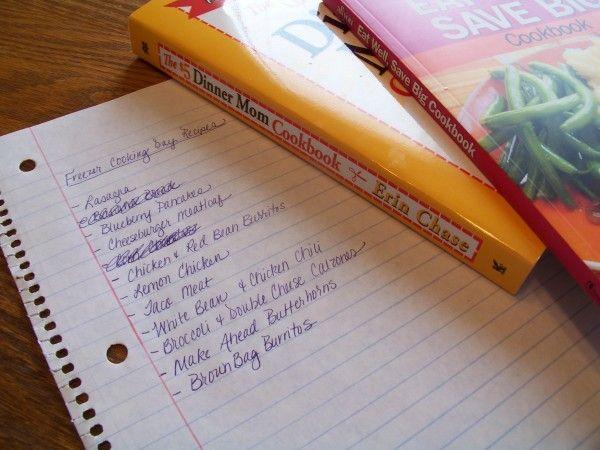 how to plan a freezer cooking session