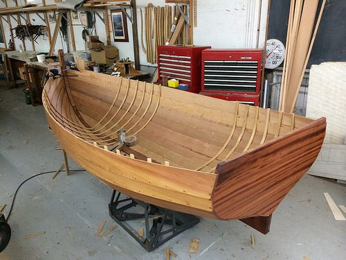 IMG_5655 - Port Hadlock WA - Northwest School of Wooden Boatbuilding - Traditional Small Craft - 9-foot Grandy skiff - framing in progress |...