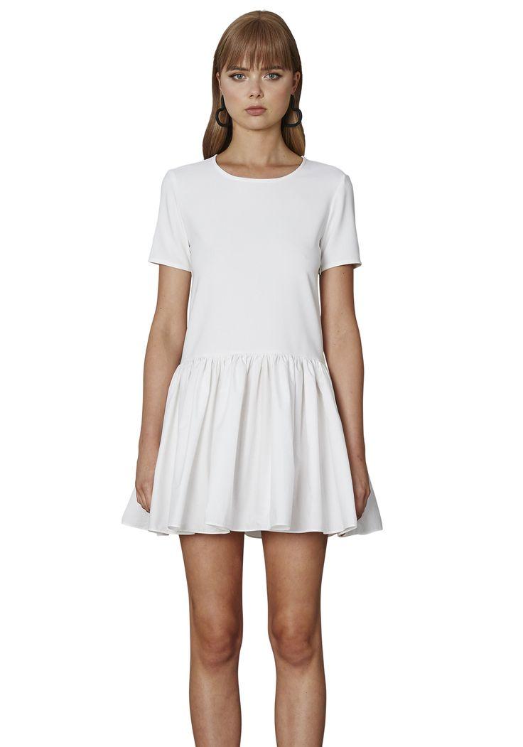 BY JOHNNY. Cotton Gather Tee Mini Dress | Contemporary Australian Womenswear