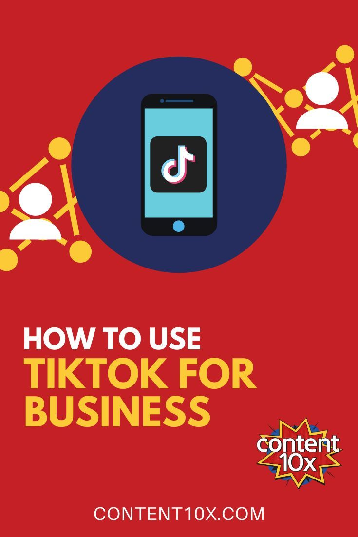 How to use tiktok for business social media infographic