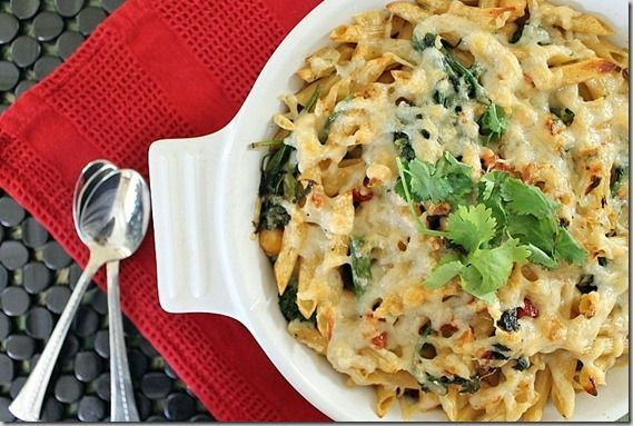 Broccoli rabe and sundried tomato pasta bake...this sounds super yummy!