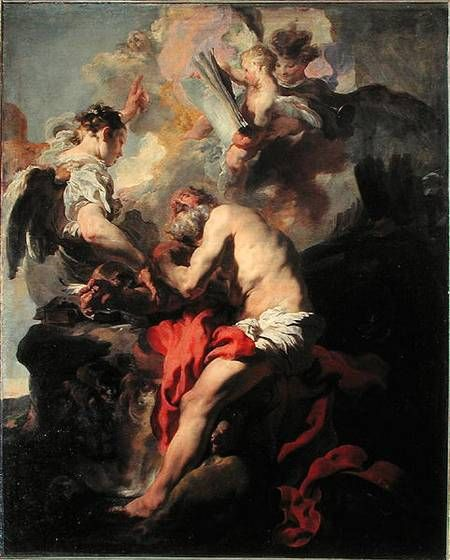 Image: Johann Liss or Lis or von Lys - Saint Jerome inspired by the angel