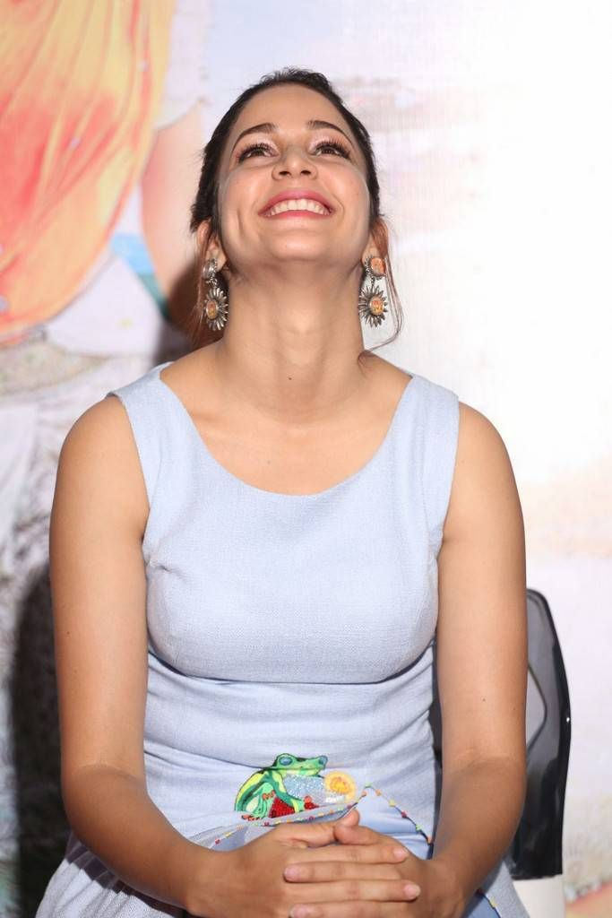 Telugu Actress In Blue Dress At Film Trailer Launch Lavanya Tripathi