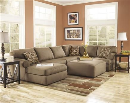 Cowan Mocha Polyester 4pc Sectionals