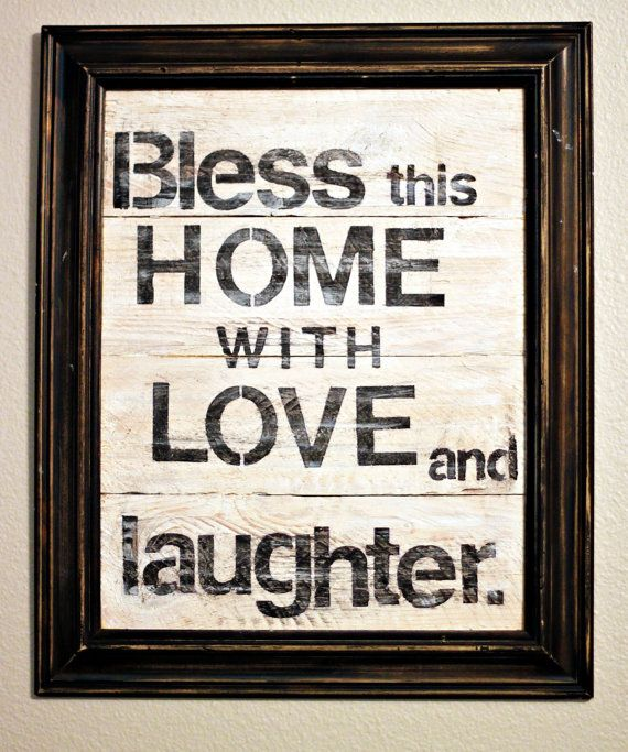 Rustic  hand painted wood sign & saying