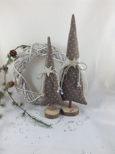 2 Tannenbäume in taupe/natur von Steinhoff-Design auf DaWanda.com