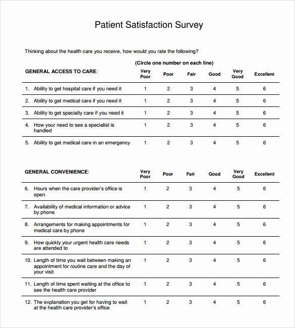 Patient Survey Form Lovely Sample Patient Satisfaction Survey 10 Documents In Pdf Survey Form Customer Satisfaction Survey Template Surveys