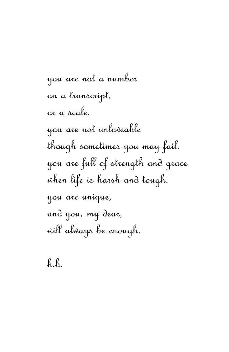 You Are Enough | @hannahbaldoz poetry