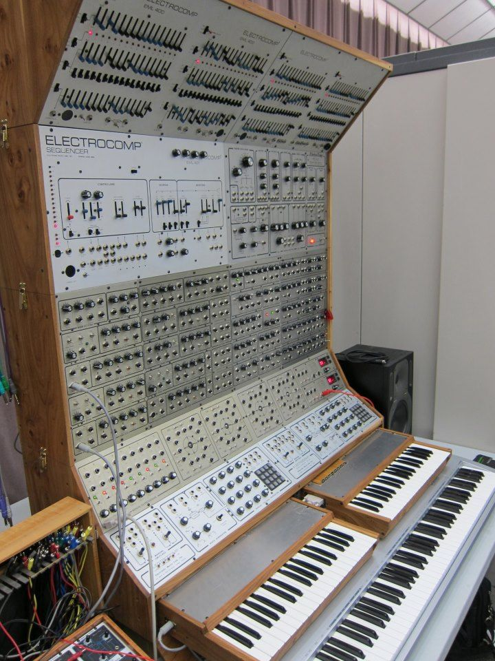 EML ElectroComp modular synthesizer with sequencer. Custom built by George Mattson. This thing is a Mother!