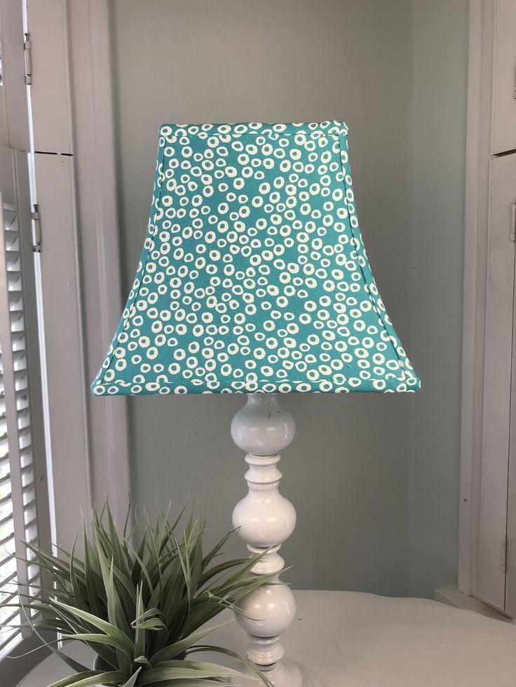 Coastal Lamp Shade Aqua Blue, Aqua Blue Lamp Shades