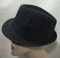 Cotton Trilby - Black Pinstripe 58