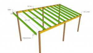 Lean to carport roof plans
