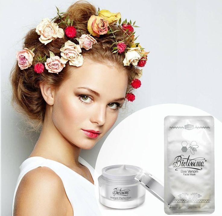 Obtine un ten care radiaza de frumusete cu crema INSTANT PERFECTION Biotissima® si masca faciala Biotissima® cu venin de albina.