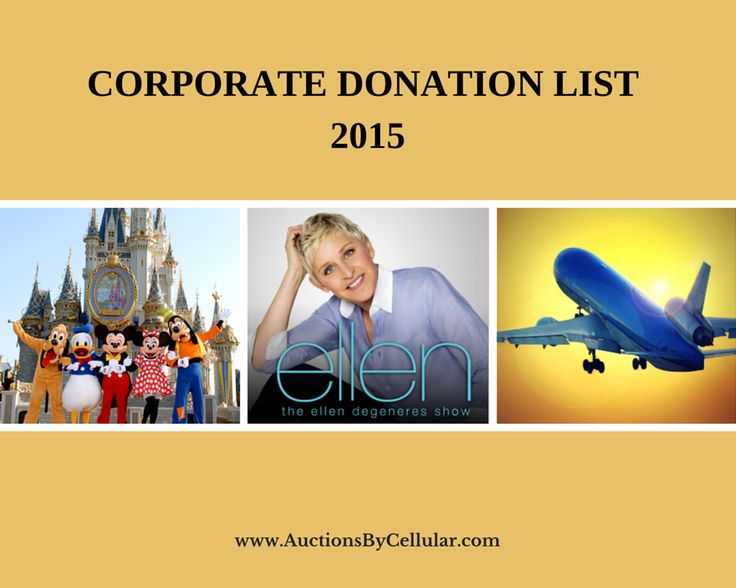 Corporate Donation List 2015