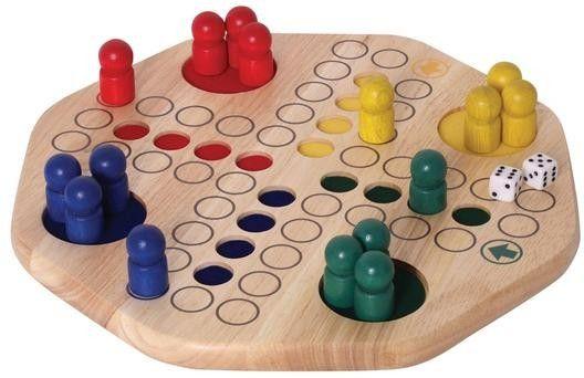 Wunderschön gearbeitetes Gesellschaftsspiel für 2 - 4 Personen ab 4 Jahren. Ziel des Würfelspieles ist es, als Erster seine vier Spielfiguren ins Ziel zu bringen. Dabei soll man sich aber überhaupt nicht ärgern!