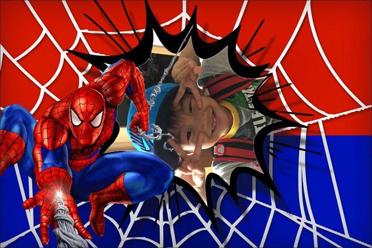 Fazer Montagem de Fotos Online Homem Aranha Spiderman