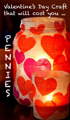 Cute Valentine's Day Craft that will cost you pennies!