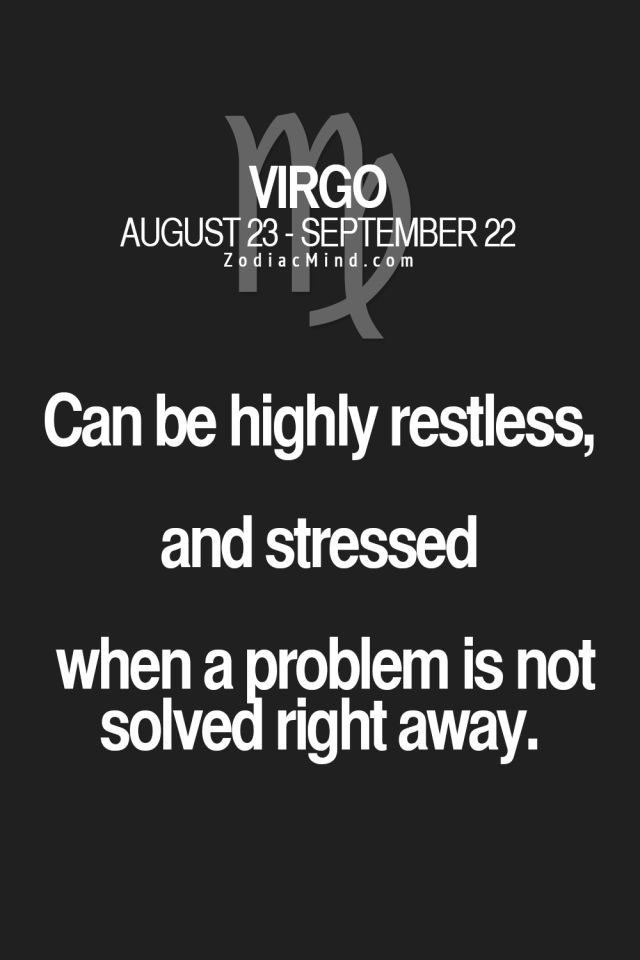 Virgos and Problems