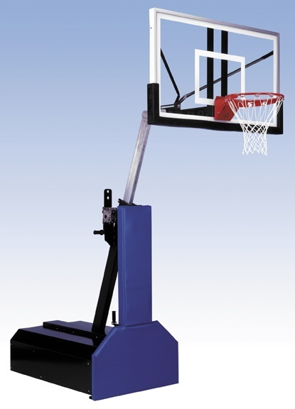 BASKETBALL GOAL [USD 2,000].  Located at the edge of the multi-use play zone, the portable goal allows play for a large age range and can be relocated when necessary.
