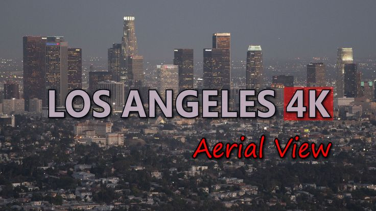 Ultra HD 4K Los Angeles Aerial View Skyline Travel City Cars LA Downtown Day UHD Video Stock Footage