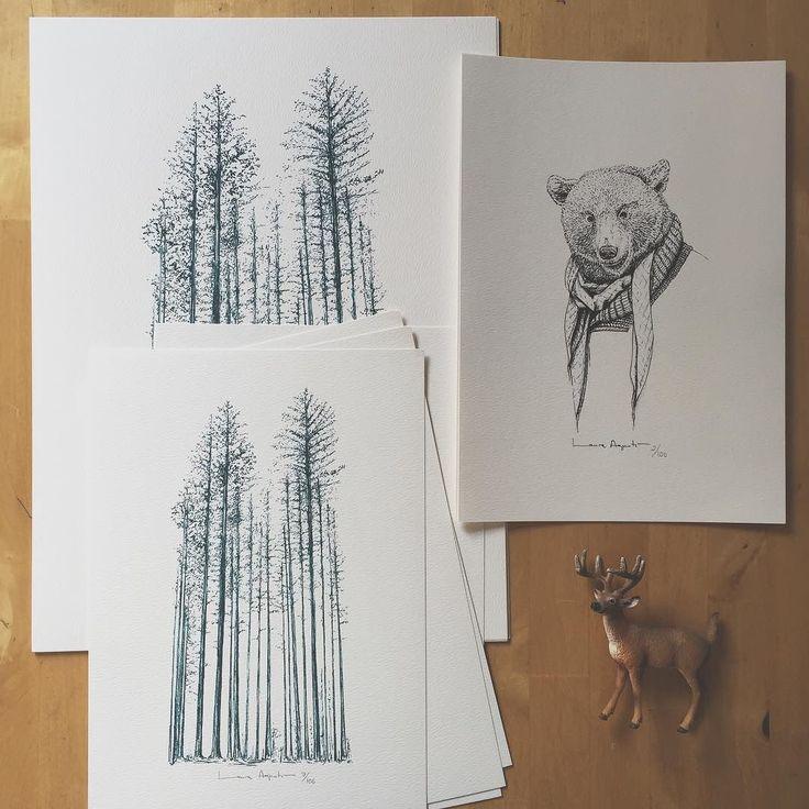 ...en la foto no se nota pero el bosque es de color azul y me encanta...más prints nuevos en la web y recuerdo que este domingo será el último día de envío de prints para que puedan llegar a tiempo a las navidades... http://ift.tt/1nmTrFD by lalauri