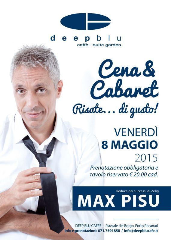 Locandina A3 per Deep Blu Caffè. 2015
