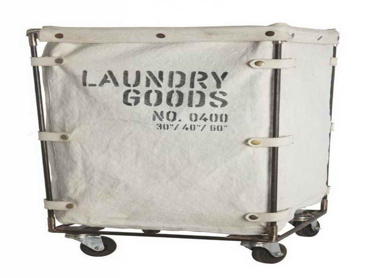 Rolling Laundry Basket: Rolling Laundry Basket With Canvas – Stroovi