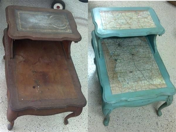 Chalk Paint End Table Ideas Chalk Painted Rustic Side Tables