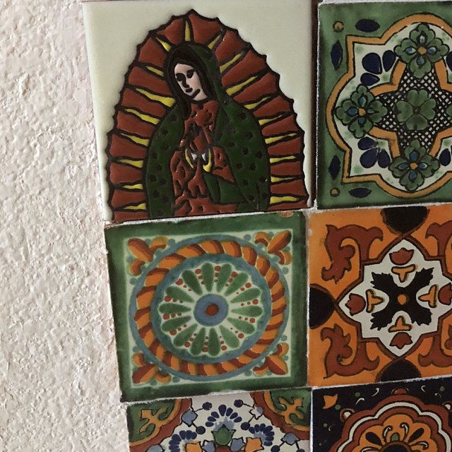 12 Mexican Talavera Tiles Hand Painted 4 X 4 Etsy In 2020 Talavera Tiles Hand Painted Mexican Talavera