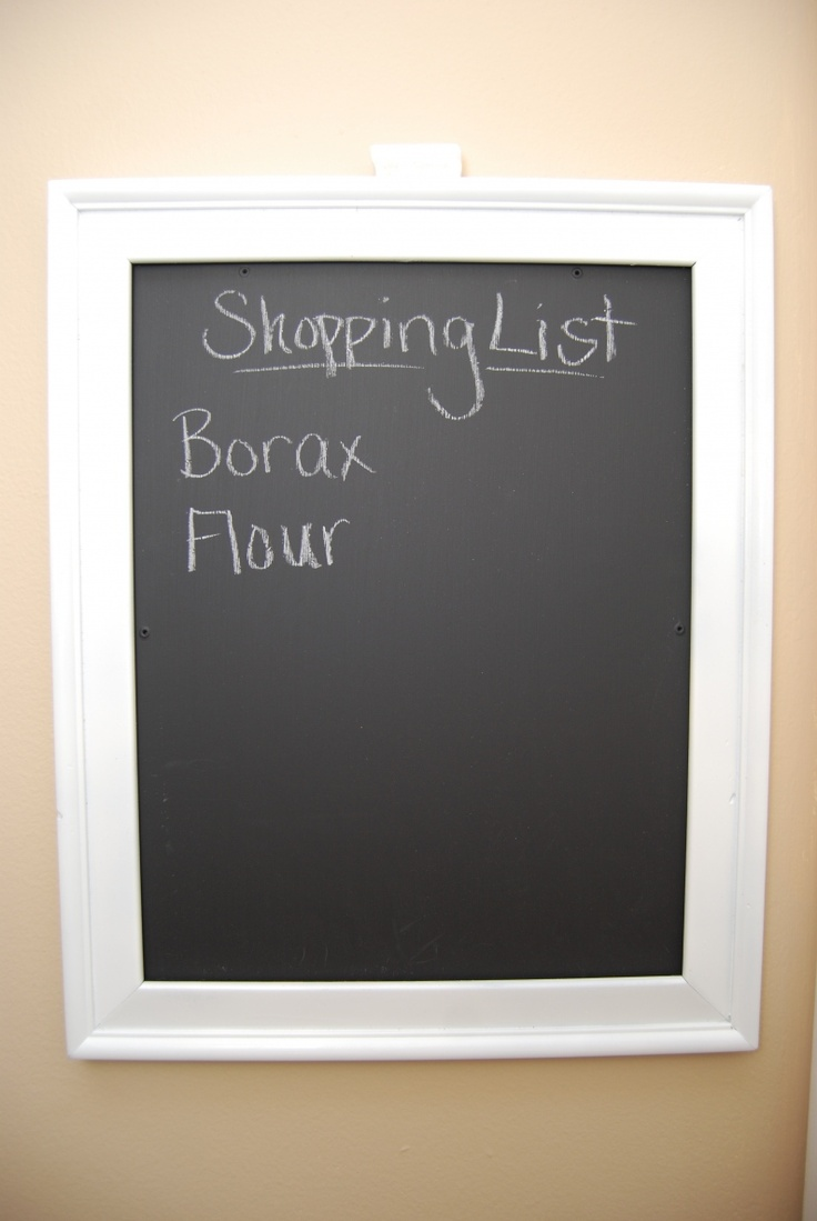 Picture Frame Chalkboard~ for my pantry door
