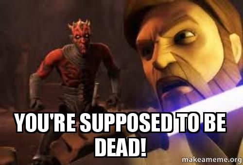 "Obi-wan needs to change the way he ""kills"" people. Think about it, he tried to kill Darth Maul and failed. Then he tried to kill Anakin and failed. I say just go with a classic stab to the chest Obi-wan!"