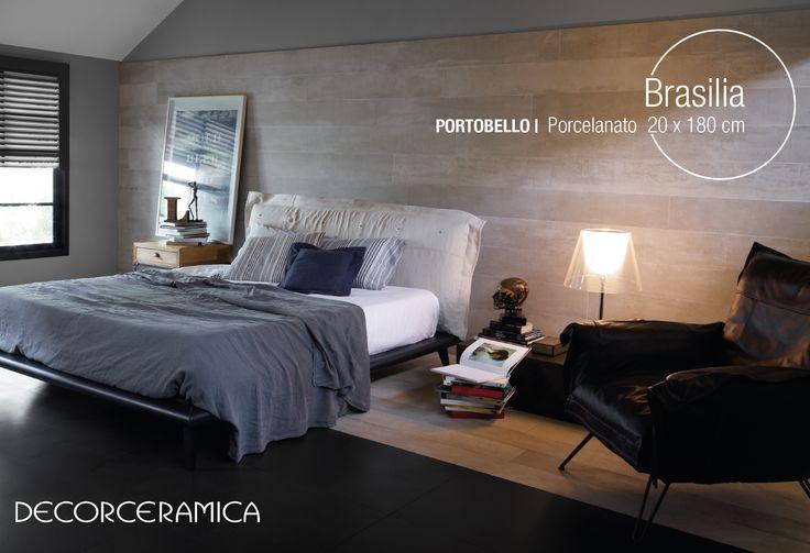 Ven a #Decorceramica e Innova con la corriente urbana del porcelanato Brasilia de #Portobello .