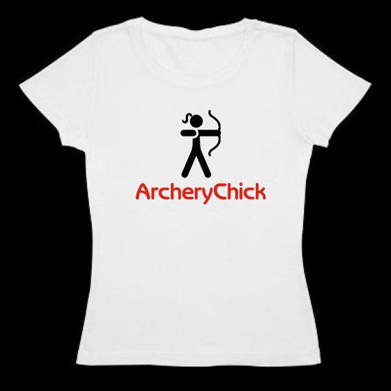 Woman's Archery shirt - Archery Chick logo