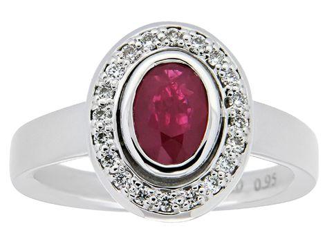 #ruby & #diamond ring | #thomasjewellers