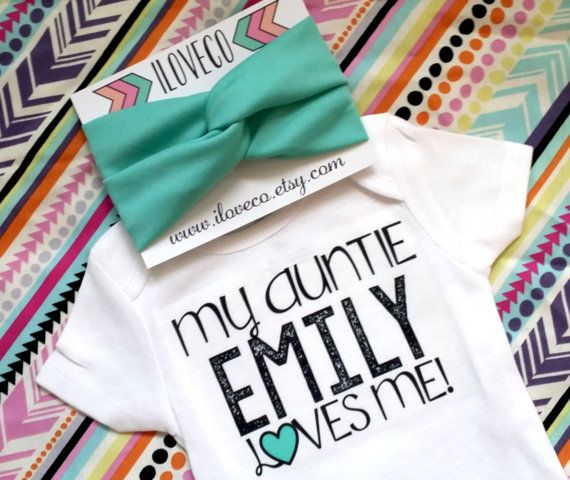Best 25 aunt onesie ideas on pinterest auntie baby clothes my auntie aunt uncle sister loves me custom bodysuit with matching mint teal baby headband negle Image collections