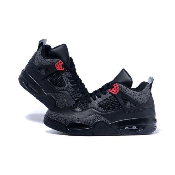 buy real air jordan 4 retro mens black infrared 23 3lab4