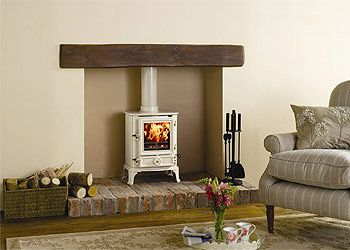 Wood burning stove - great way to rethink a fireplace that doesn't work.