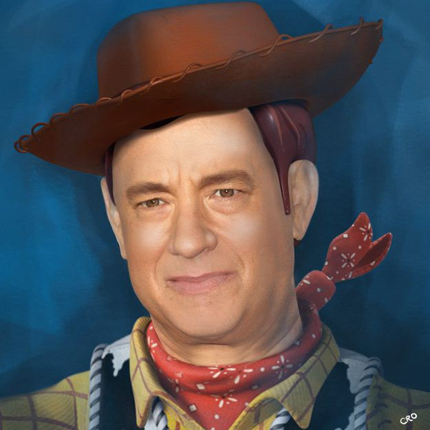 "Tom Hanks as Woody: | Here's What Famous Disney ""Voices"" Would Look Like As Their Characters"