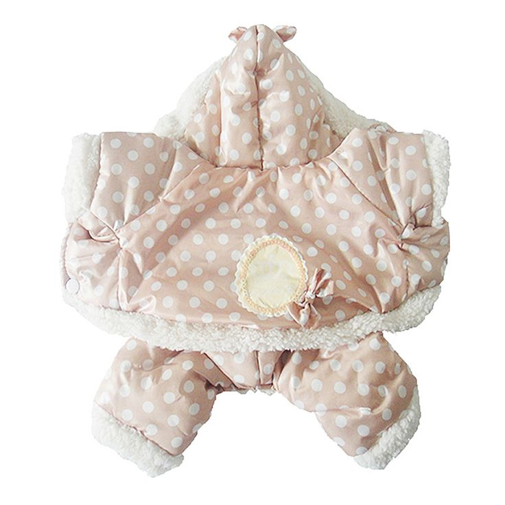 2016 Hot Winter Pet Dog Cat Soft Cotton Clothes Warm Polka Dot Jacket Jumpsuit Hoodie Coat Dog clothes Ropa Para Perro Dog Hoody [Affiliate]