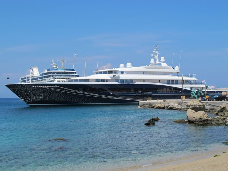 Rhodes Harbor Full of Luxurious Yachts - 02 August 2012 - Guide2Rhodes News