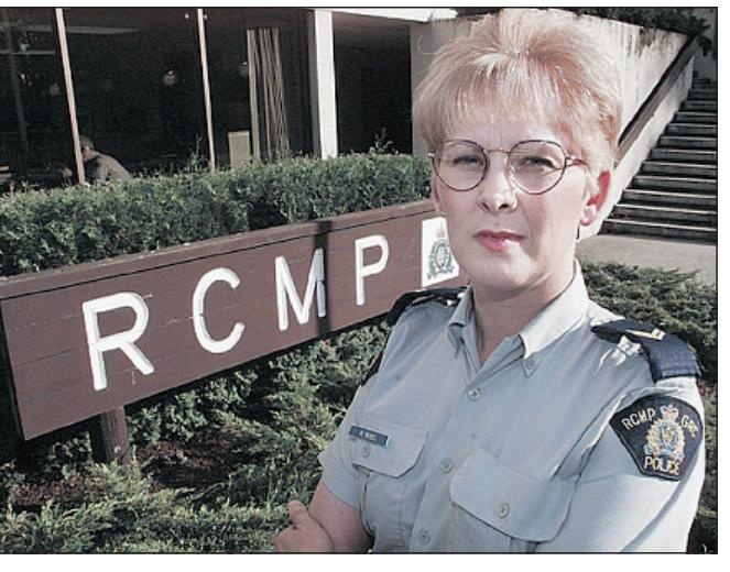 'My heart will forever wear a badge' Vancouver Cpl. Maria Nickel of the Richmond RCMP.